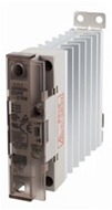 Solid state relay, 1 phase, 25A 100-240 VAC, with